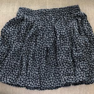 Brandy Melville Navy Floral Skirt